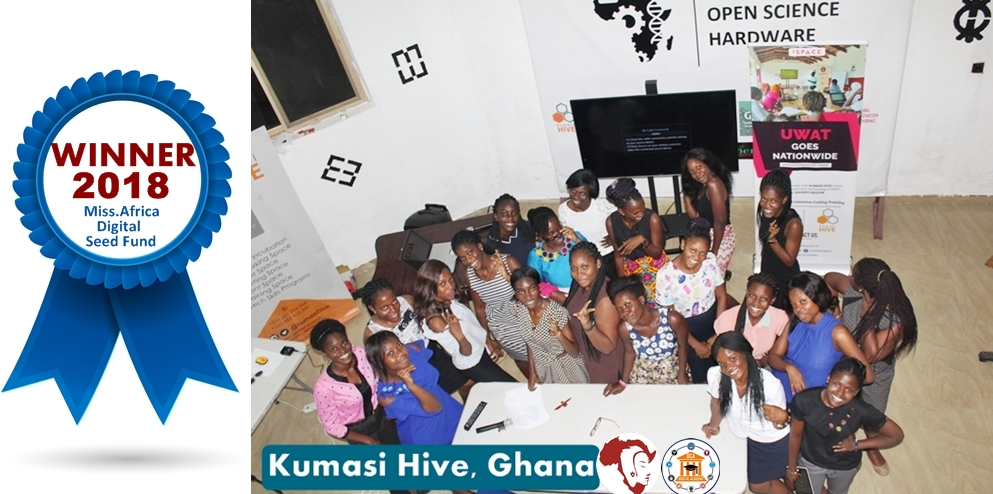 Kumasi Hive Ghana Miss.Africa Digital Seed Fund 2018 Winner