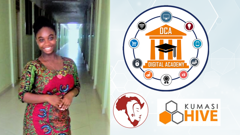 Miss.Africa Digital Funded Kunasi Hive training has made me love programming and everything programming -Mary Baah-Boateng