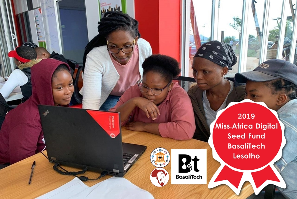 BasaliTech, Lesotho – a 2019 Miss.Africa Digital Seed Fund Winner wants young girls to secure their futures through STEM training